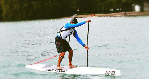 Jean-Luc Malfroid à l'open race du lac d'Annecy en 2012